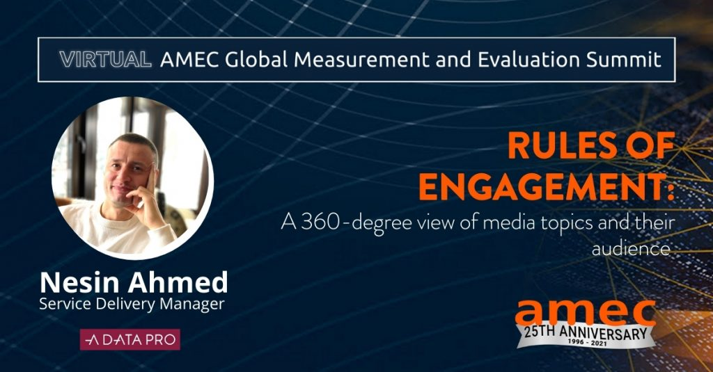 Rules of engagement A 360-degree view of media topics and their audience Nesin Ahmed A Data Pro